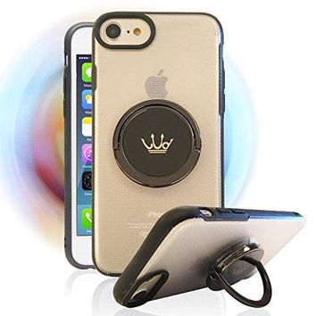 Spinner Cell Phone Case for Apple iPhone 6,6S,7,6 Plus,6S Plus,7 Plus,Integrated with High Speed Rotating Ring Holder