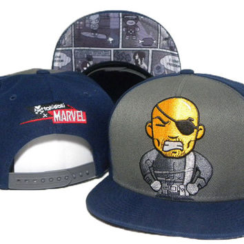 TokiDoki Marvel Shield Nick Fury Snap-back Cap for Adults