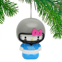 Carolina Panthers Hello Kitty Ornament - http://www.shareasale.com/m-pr.cfm?merchantID=7124&userID=1042934&productID=555875430 / Carolina Panthers
