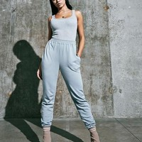 Missguided - Blue Super Slim Joggers