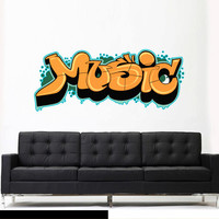 Full Color Wall Decal Mural Sticker Decor Art Poster Gift Kids Nursery Like painting Graffiti Words Quote Sign Music (col702)