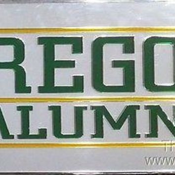 Oregon Ducks ALUMNI Deluxe Laser Acrylic Inlaid License Plate Tag University of
