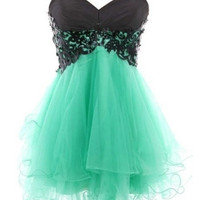 New Fashion Cody Butterfly Dress/Lace Ball Gown Sweetheart Mini Prom Party Dress = 1932308164