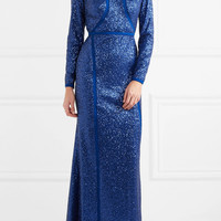 Elie Saab - Sequined silk-blend tulle gown