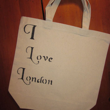 I Love London reusable shopping tote bag