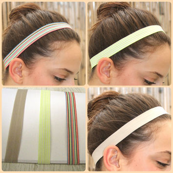 Gym hairband Elastic Headband Stretchy Headbands Work by TopStyle1