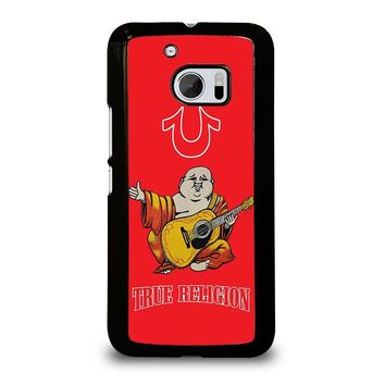 RED BIG BUDDHA TRUE RELIGION  HTC One M10 Case Cover