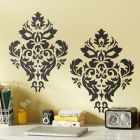 Black Damask Decal