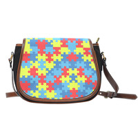 Autism Awareness Saddle Bag