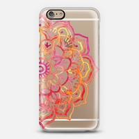 Watercolor Medallion in Sunset Colors on Transparent iPhone 6 case by Micklyn Le Feuvre | Casetify