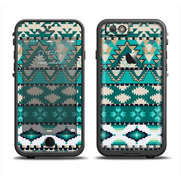 The Vector Teal & Green Aztec Pattern  Apple iPhone 6/6s LifeProof Fre Case Skin Set