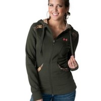 Under Armour® Women's Moss Green & Camo Full Zip Long Sleeve Hoodie