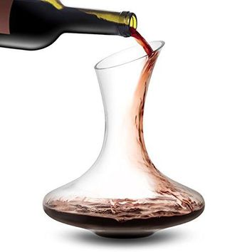 JoyJolt Lancia Wine Decanter Leadfree Crystal 100 Hand Blown Wine Aerator Glass Red Wine Carafe 54oz Red Wine Accessories This Wine Decanters Are A Great Gift for Wine Lovers