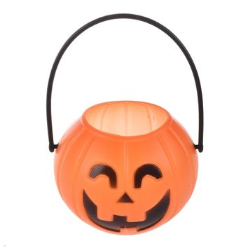 Halloween Masquerade OrnamentTrick Treat Loot Sweet Candy Carry Holder Jar Jug Barrel Party