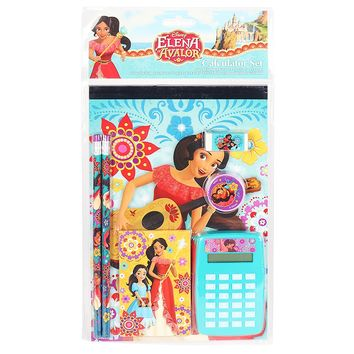 Disney Elena of Avalor 7 piece Fun Calculator Set Back to School for Girls