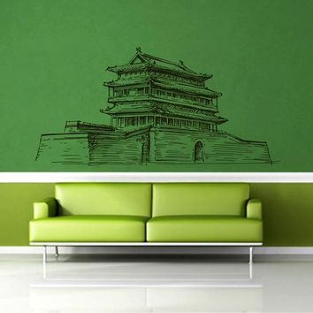 ik2401 Wall Decal Sticker ancient temple hall bedroom china chinese restaurant
