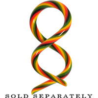 8 Gauge Rasta Glass Double Twist Taper | Body Candy Body Jewelry