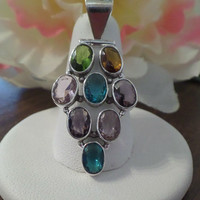 Gorgeous Sterling and Gemstone Pendant