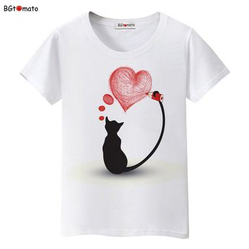 Black Cat Love T-Shirt