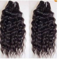 "Deep Curly 22"" Brazilian Virgin Remy Human Hair Weave Weft 2 Bundles 200 Grams Unprocessed Natural Color Extensions 100% Brazilian Human Hair Extensions"