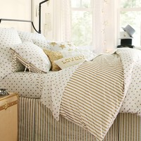 The Emily & Meritt Metallic Dottie Duvet Cover + Sham
