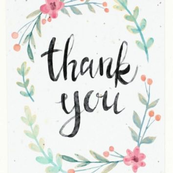 Thank You (watercolor greeting card)
