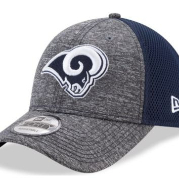 Men's Los Angeles Rams New Era Heathered Gray/Navy Neo Shadow Turn 9FORTY Adjustable Hat