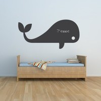 Whale Chalkboard Wall Art Decal