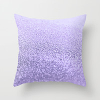 PURPLE LAVENDER Throw Pillow by Monika Strigel