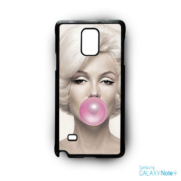 Marilyn Monroe Bubble Gum for Samsung Galaxy Note 2/Note 3/Note 4/Note 5/Note Edge phone case