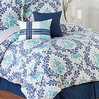 Home Accents® Belmont Turnstyles Reversible 6-Piece Bedding E