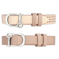 Single Leather Band-Triangle Perf- Tan/Natural