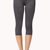 Heathered Skinny Workout Capris