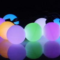Ball Round RGB Led String Christmas Fairy Lights Lighting 3W 40pcs LEDS Lamp Bulb Waterproof IP44 RoHs Certificate Ship From USA