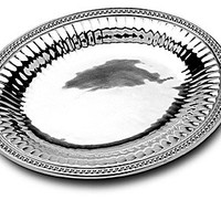"""Wilton Armetale Flutes & Pearls Oval Tray - 14.5x12"""" Oval Tray"""