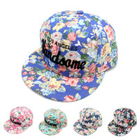 Stylish Hip-hop Embroidery Alphabet Korean Baseball Cap Hats [4917718468]