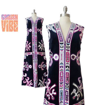 PUCCI MAXI DRESS | Vintage 60s 70s Velvet Maxi Gown Emilio Pucci Couture Italy  High Fashion
