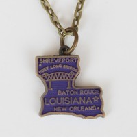 Louisiana State Charm Necklace - Necklaces - Jewelry