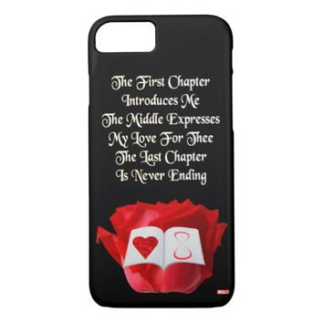 Chapter Just Because Love Greeting by Kat Worth iPhone 7 Case