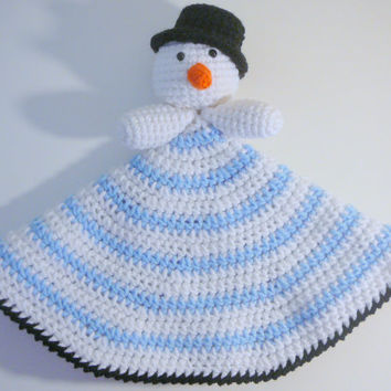 Snowman Lovey PDF Crochet Pattern INSTANT DOWNLOAD