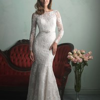 Allure Bridals 9167 Long Sleeve Lace Wedding Dress