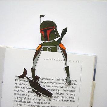 Boba Fett bookmark printable - star wars, birthday gift, gift for him, gift for her, gift for friends, reading book