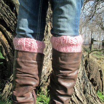 Boot Cuff Knitting Pattern - Thick and Chunky - Instant Download PDF - Cascade Yarn - Magnum - Quick Knit - Knit Flat - Knit in Round