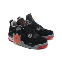 Air Jordan 4 Retro Bred AJ4 Sneakers - Best Deal Online