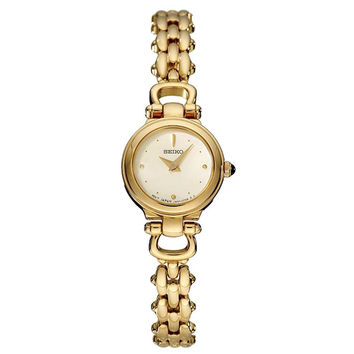 Seiko SUJD42 Women's Mother of Pearl Dial Gold Tone Bracelet Watch