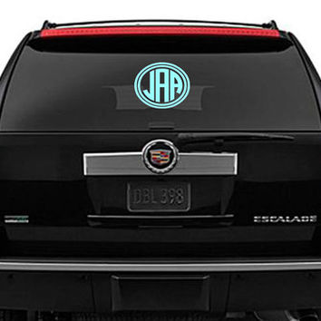 Monogram Car Decal  Personalized by pinkydotgifts on Etsy