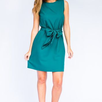 All the Feels Bow Tie Dress in Aqua