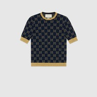 Gucci GG cotton lurex top