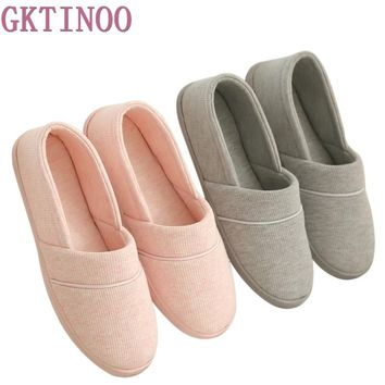 New Winter- At Home Thermal Cotton-Padded Slippers Women's Cotton Slippers Indoor Slippers With Soft Outsole Shoes