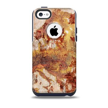 The Grungy Red Panel V3 Skin for the iPhone 5c OtterBox Commuter Case